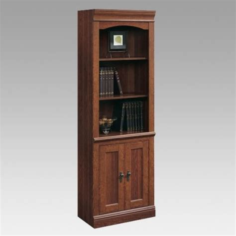 sauder bookcase with doors sauder camden county library bookcase with doors