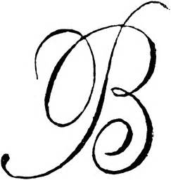 Cursive letter b tattoos clip art monogram letters
