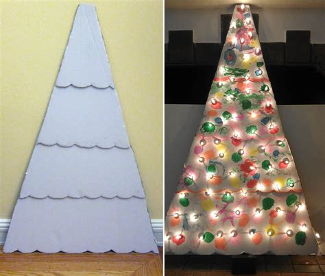 cardboard box top christmas tree template