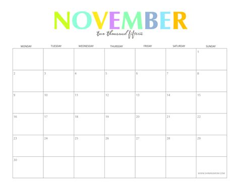 Calendar Template Printable November 2015 5 Best Images Of November 2015 Calendar Printable