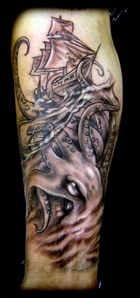kraken tattoo by wildthingstattoo on deviantart