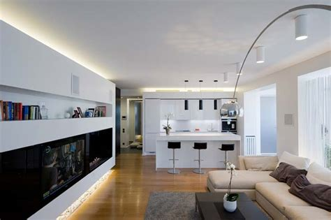 Modern Kitchen And Living Room Colors Appartement Design A Moscou Cuisine Arkko