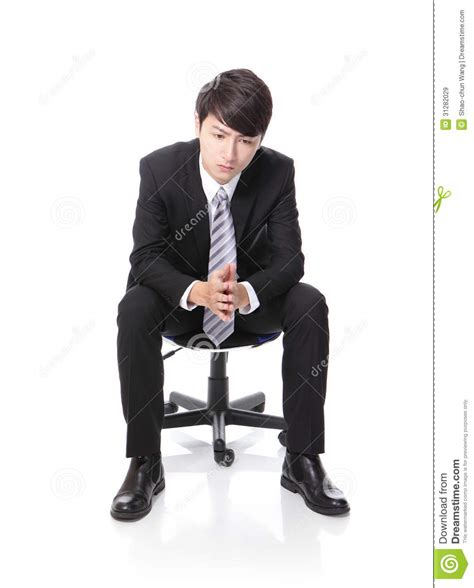 Person Sitting In Chair by Frustrated And Thinking Business Sitting Royalty Free