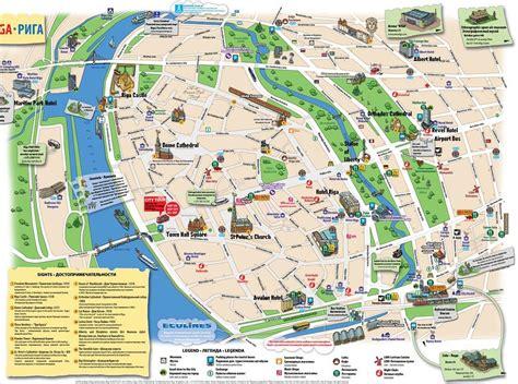 tourist maps riga latvia cruise port of call