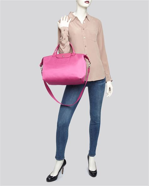 Longch Neo Medium Pink longch tote exclusive le pliage neo medium in pink lyst