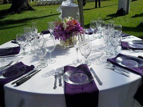 Table Setup   waterfall napkins   Food for the Soul