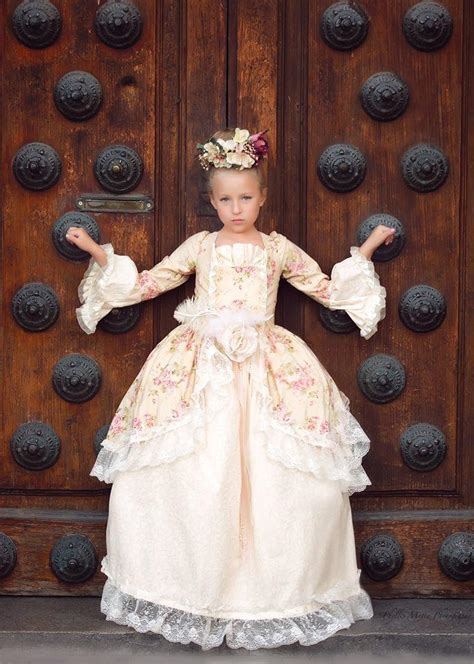 edwardian rose  floral victorian inspired girls ball gown