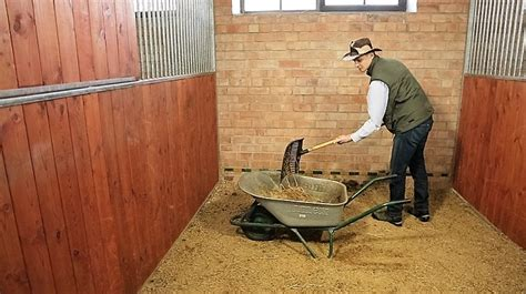 mucking stalls straw pellets archives