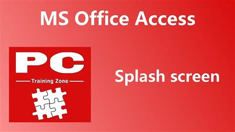 ms office access splash screen youtube