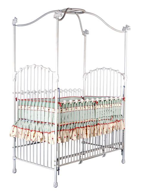 panel canopy crib with bunnies