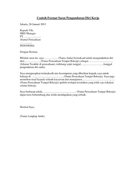 Contoh Surat Lamaran Pekerjaan Pns Yang Ditujukan Ke Dinas Pendidikan by 15 Macam Contoh Surat Pengunduran Diri Dengan Sopan Dan Benar
