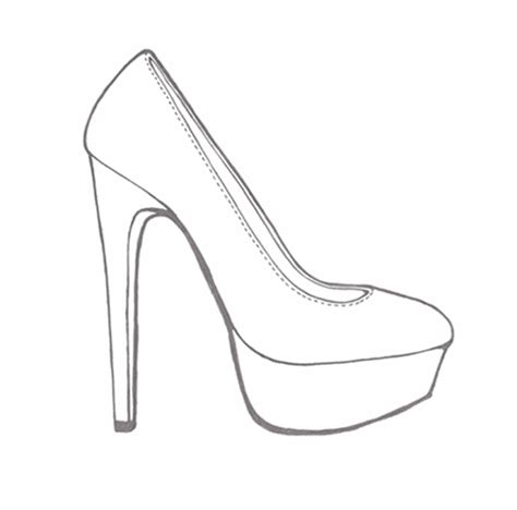 Heel Shoes Lines the gallery for gt sketches of high heel shoes