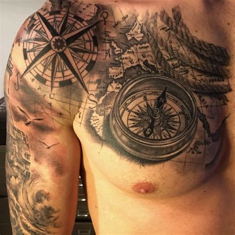 tattoo trends compass map tattoo by fabrizio converso
