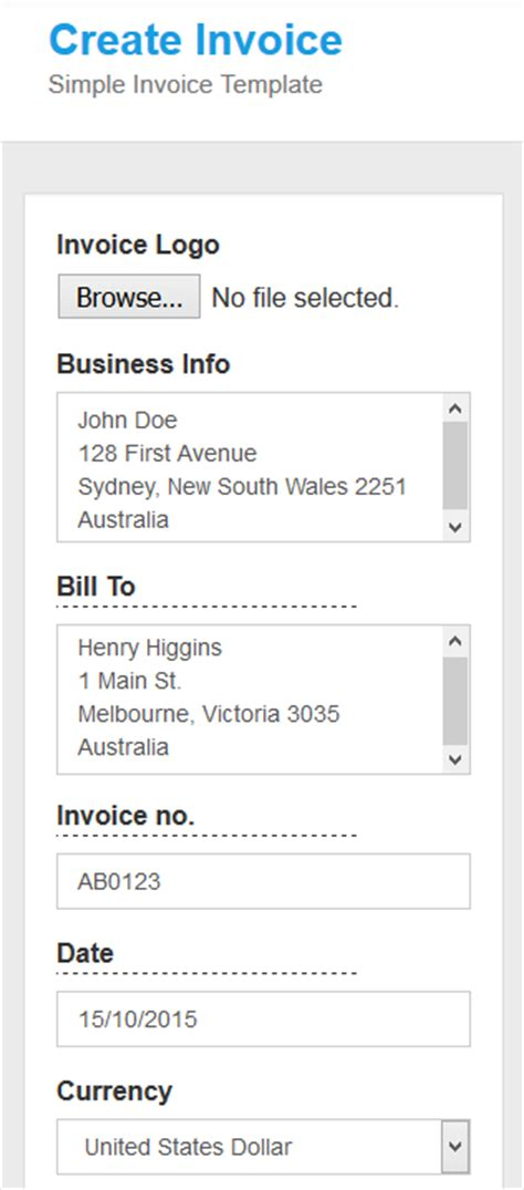 mobile invoice template how to generate an invoice from your mobile phone