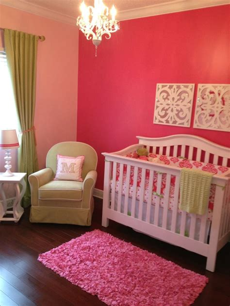 baby room colors baby nursery accent wall with lighter walls