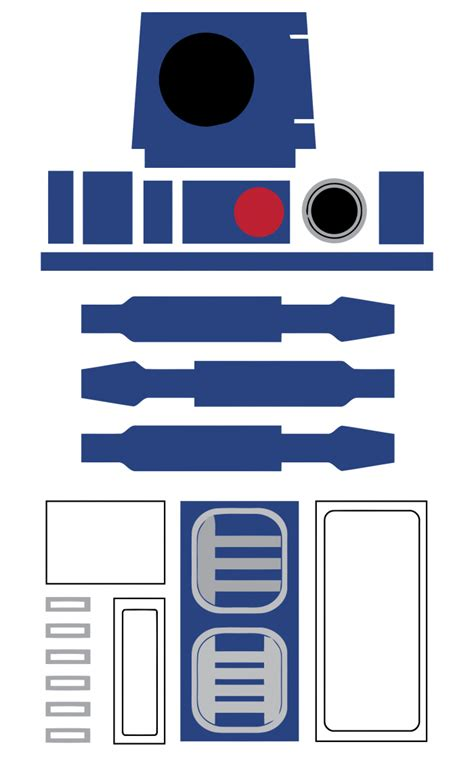 r2d2 printable template wars r2 d2 favor bag printable free