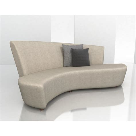 curved contemporary sofa contemporary curved sectional sofa loccie better homes