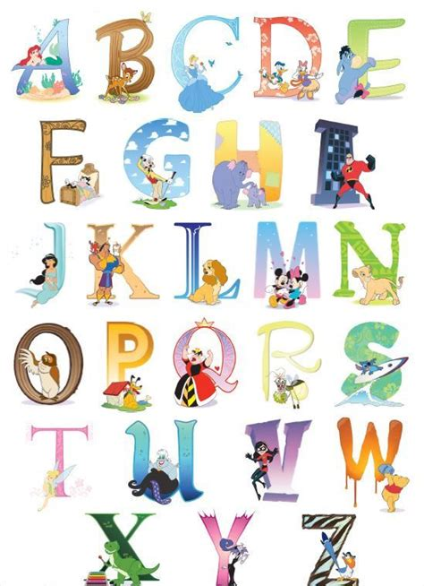 Disney Character Letter N 17 Best Ideas About Disney Alphabet On Letter Fonts Handwriting Fonts Alphabet And