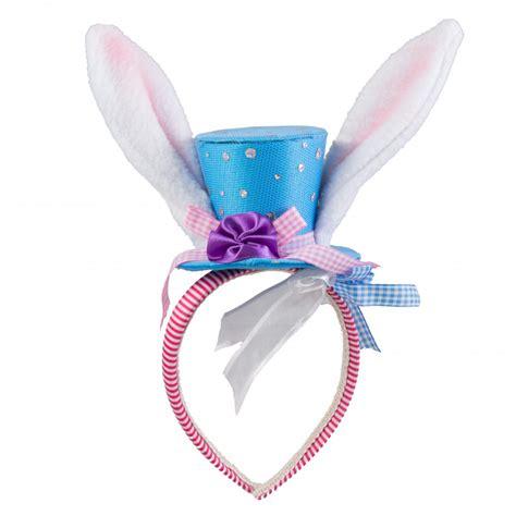 Rabbit Headband bunny top hat ears headband blue 9724721a craftoutlet