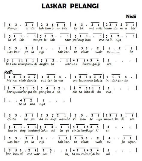 cara membuat not angka lagu sendiri not pianika laskar pelangi lagu nidji dengan makna