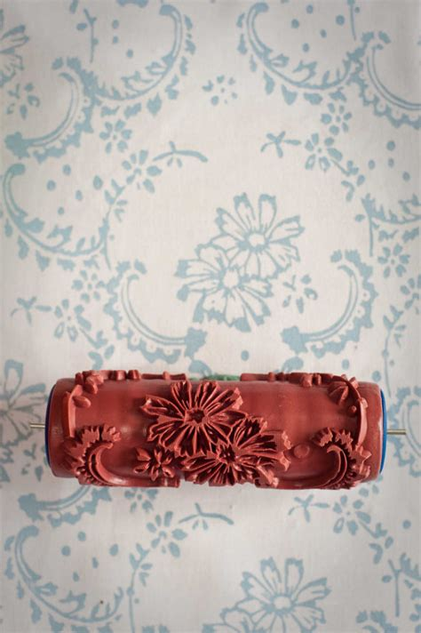 damask patterned paint roller no 27 from paint courage no 12 patterned paint roller from the painted house