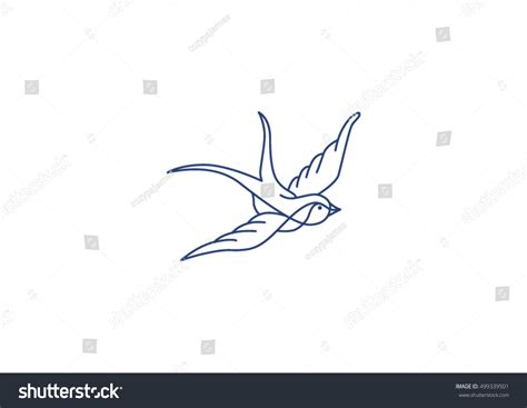 tattoo pen vector swallow icon isolated on white background stock vector