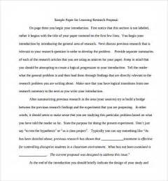 sample research paper proposal template 9 free