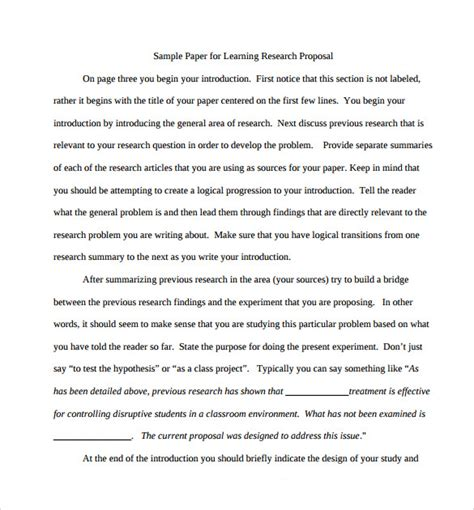 sle research paper proposal template 13 free
