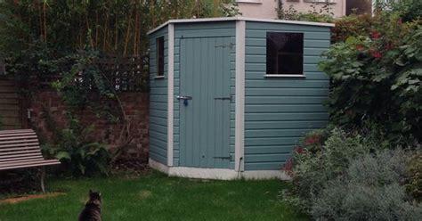 shed cuprinol garden shades  seagrass  pale