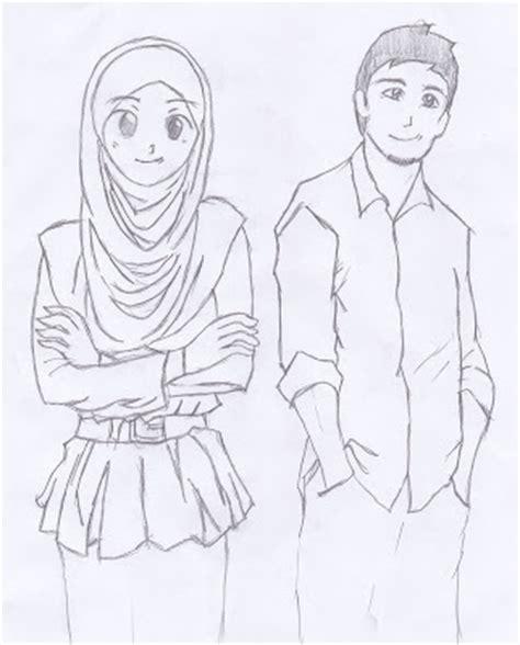 gambar kartun pasangan muslim muslimah apps directories
