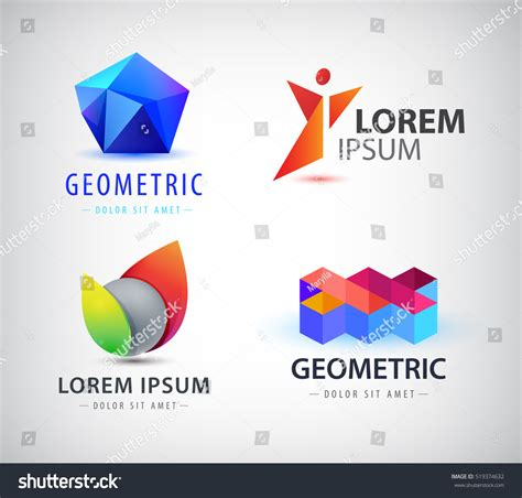 colorful logo design elements vector set vector set colorful abstract logos design stock vector