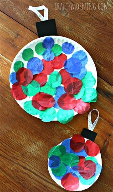 paper plate christmas art paper plate ornament craft for crafty morning