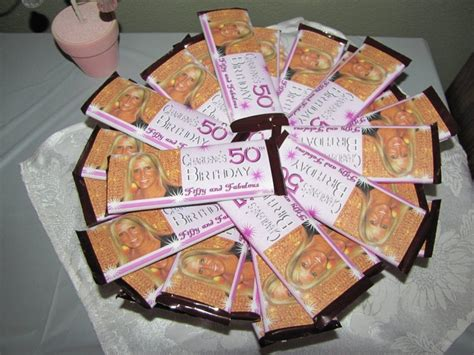 Giveaways For 50th Birthday Party - candy bar wrappers i made for my sister s 50th birthday party bday pinterest bar