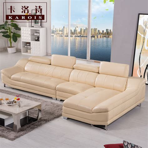 5036a high quality factory price home furniture living factory selling high quality genuine leather sofa section