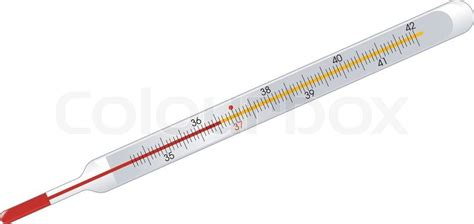 Termometer Hg mercury thermometer on white stock vector colourbox