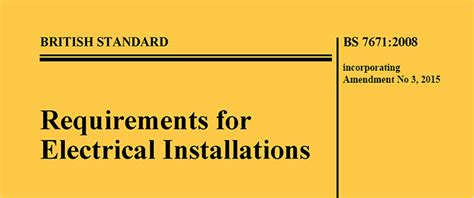 bs 7671 amendment 3 and changes to consumer units
