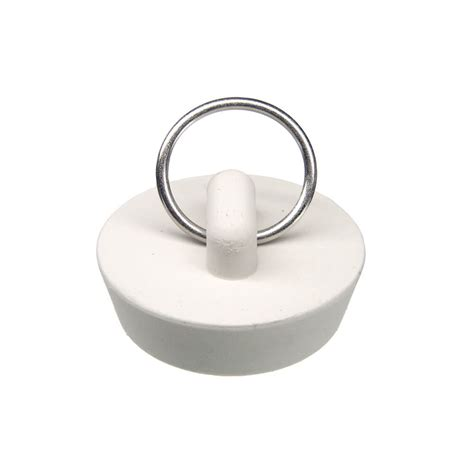 Rubber Bathtub Stopper by 1 1 4 In Rubber Drain Stopper In White 1 Per Bag Danco
