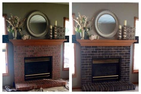 Painted Fireplaces Before And After by Before And After Painted Fireplace Murals By