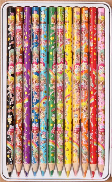 imagenes de lapices kawaii kawaii manga anime girls crayon set 12 pieces pens
