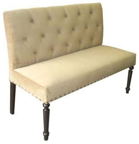 tufted dining bench with back button tufted back dining bench traditional dining