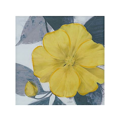 Park Yellow Bloom Canvas Wall park yellow bloom canvas wall bed bath beyond