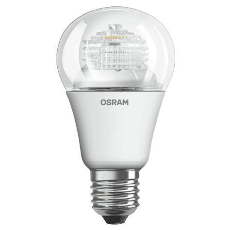 Lu Led Osram 9 Watt osram 9 watt es e27mm clear dimmable gls household led light bulb