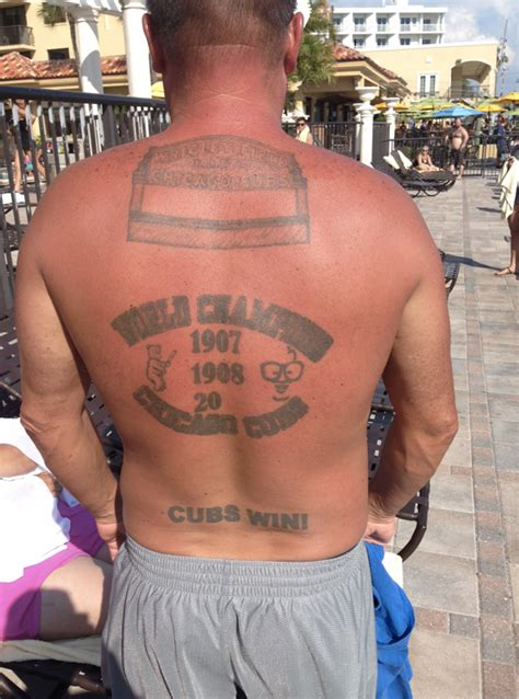 chicago cubs tattoo superfans and their oddly interesting chicago cubs tattoos