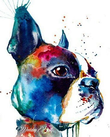 watercolor tattoo boston pin by nil z on terrier and watercolor
