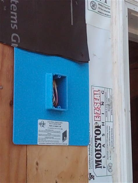 dog house electrical box proper mounting exterior boxes prior to stucco doityourself com community forums