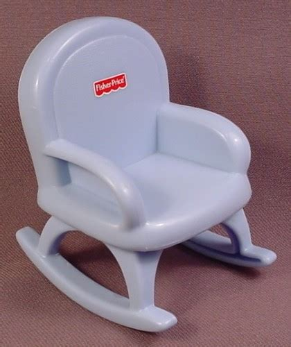 my chair fisher price fisher price 2005 my dollhouse blue rocking chair 3