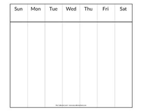 days of the week calendar template blank calendar printable my calendar land