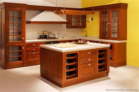 Kitchen Cabinets With Island Pictures Of Kitchens Traditional Medium Wood Cherry