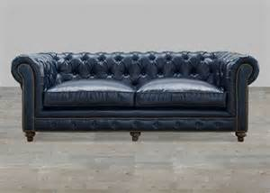 Blue Leather Chesterfield Sofa Blue Leather Chesterfield Sofa