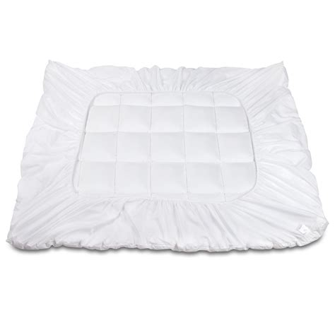 queen bamboo pillow top mattress topper pad 5cm buy 92 95 bamboo pillowtop mattress topper 5cm queen